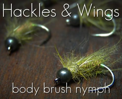 Fly-Tying-Body-Brush-Nymph-Hackles-Wings