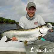 Fly-fishing-for-tarpon-in-the-Yucatan-in-Mexico