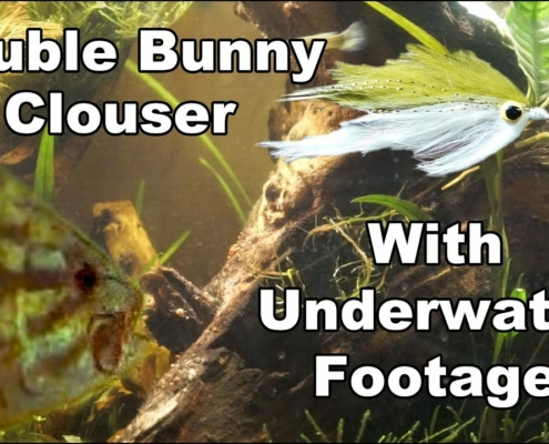 Double-Bunny-Clouser-Minnow-FOTM-UNDERWATER-FOOTAGE-McFly-Angler-Fly-Tying
