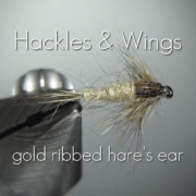 Fly-Tying-Gold-Ribbed-Hares-Ear-Hackles-Wings