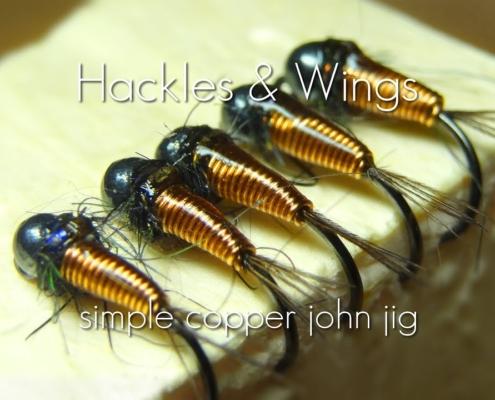 Fly-Tying-Simple-Copper-John-Jig-Hackles-Wings