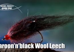 Maroonnblack-Wool-Leech-trout-streamer-fly-tying