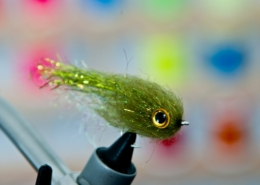 Sparkle-Mop-Head-Fly-Olive-Streamer-fly-tying-tutorial