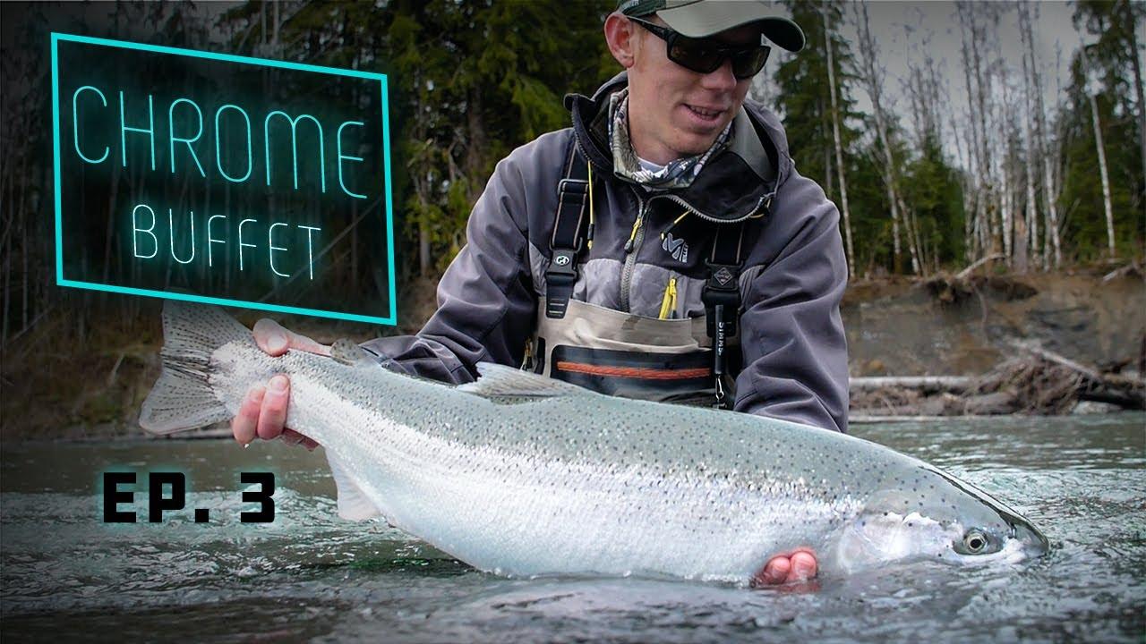 CHROME-Buffet-GIANT-Steelhead-Olympic-Peninsula-Fishing
