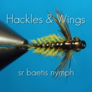 Fly-Tying-Baetis-Nymph-SR-Hackles-Wings