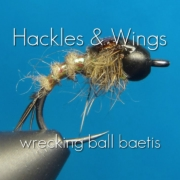 Fly-Tying-Baetis-Nymph-Wrecking-Ball-Baetis-Hackles-Wings