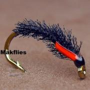 Fly-Tying-Black-Organza-Buzzer-by-Mak