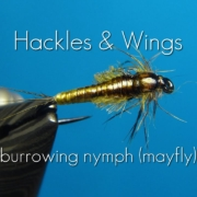 Fly-Tying-Burrowing-Nymph-Mayfly-Hackles-Wings