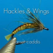 Fly-Tying-Carrot-Caddis-Hackles-Wings