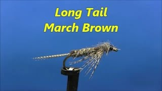 Fly-tying-a-Long-Tail-March-Brown