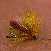 Tying-a-Large-Brown-Foam-Caddis-Sedge-by-Mak