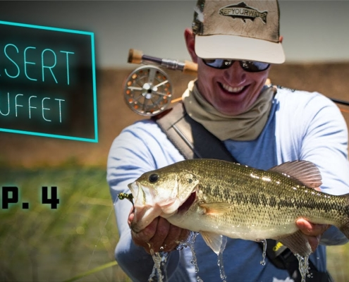 Desert-Buffet-Bass-Fly-Fishing-UNDERWATER-Bluegill-Action