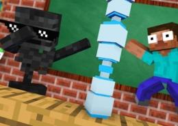Monster-School-BOTTLE-FLIP-CHALLENGE-Funny-Minecraft-Animation