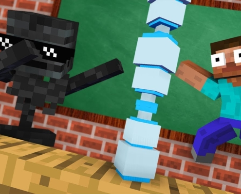 Monster-School-BOTTLE-FLIP-CHALLENGE-Funny-Minecraft-Animation