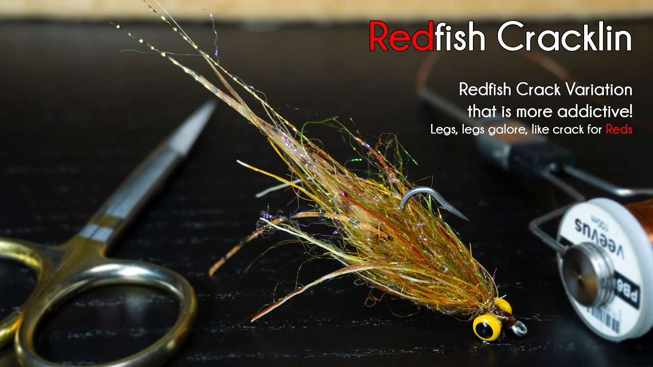 Redfish-Cracklin-Leggy-Redfish-Crack-on-Steroids-McFly-Angler-Saltwater-Fly-Tying-Tutorial