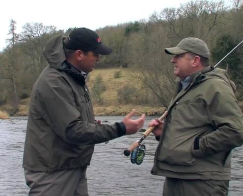 Eoin-Fairgreive-and-Ian-Gordon-discuss-the-Hardy-Zenith-Double-Handed-rod