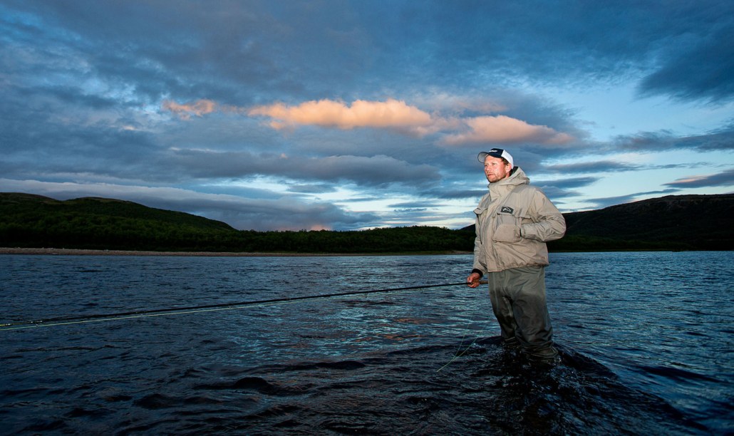 Salmon fishing in Tana River, Norway