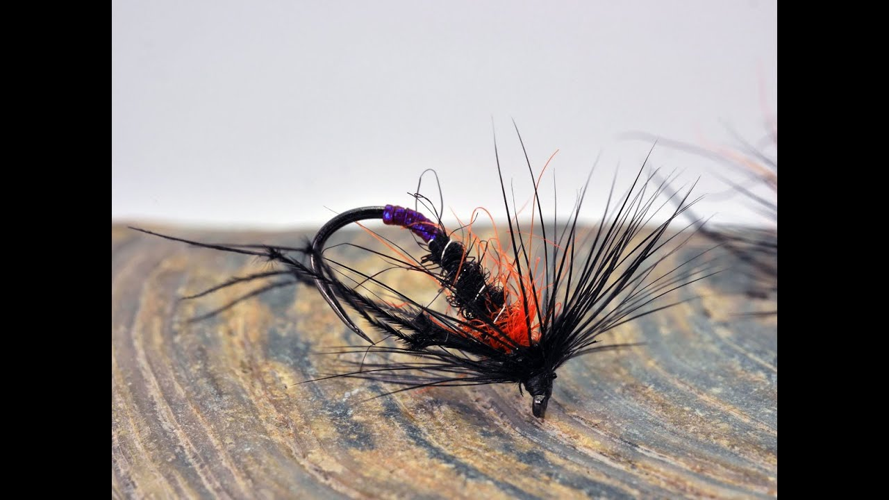 How-to-tie-the-hot-orange-thorax-hopper-dry-fly-For-fly-fishing-on-Stillwaters