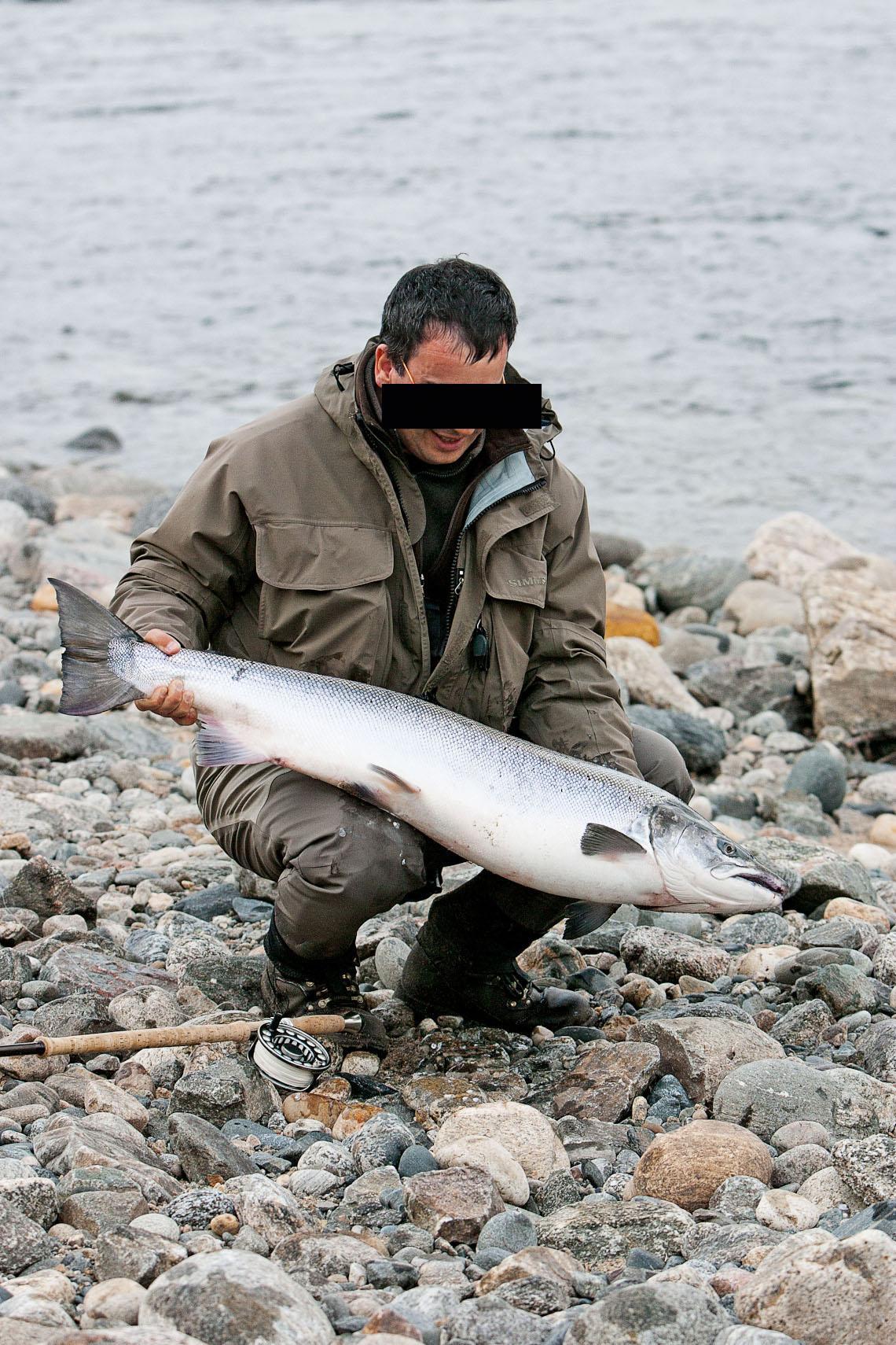 Franskmanden med et nordnorsk pragteksemplar på 14,5 kilo.