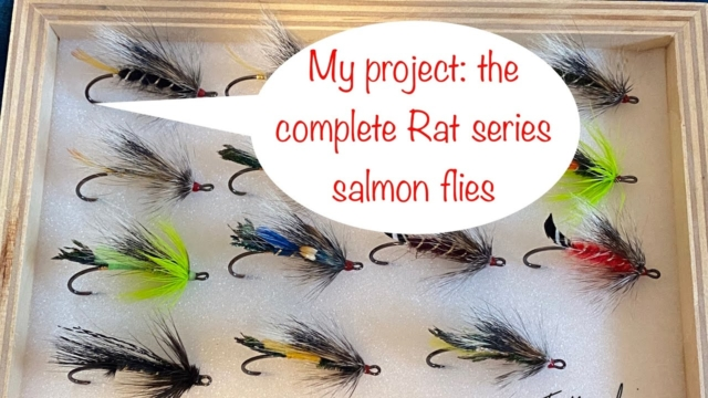 Fly-tying-the-complete-salmon-fly-Rat-series-with-Fabien-Moulin-video-of-the-Blue-Rat
