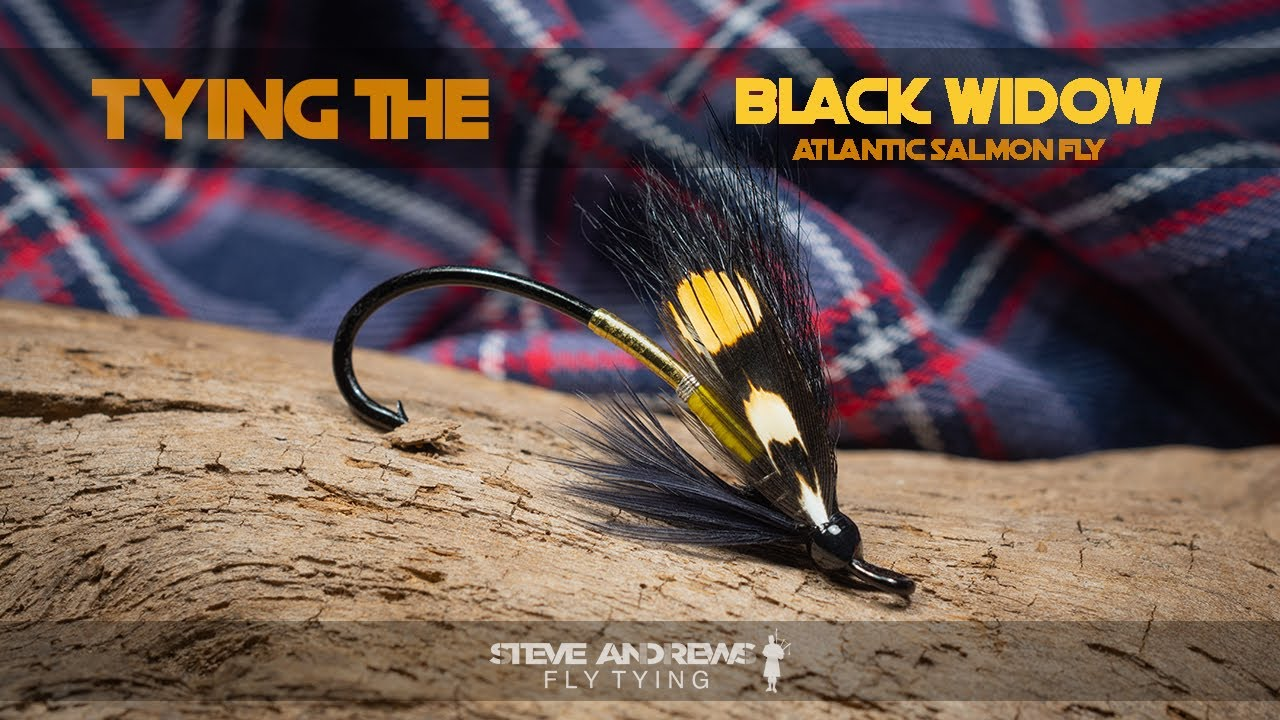 Tying-The-Black-Widow-Atlantic-Salmon-Fly-with-Steve-Andrews