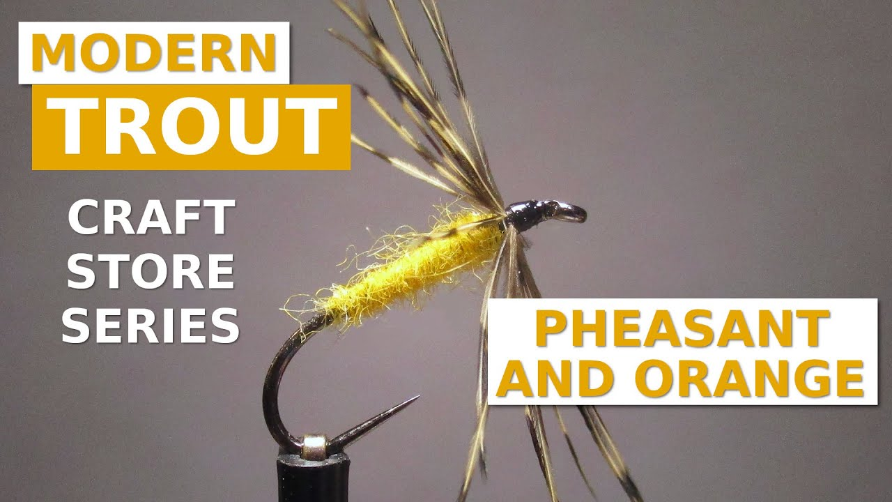 Fly-Tying-a-Pheasant-and-Orange-from-Craft-Store-Materials
