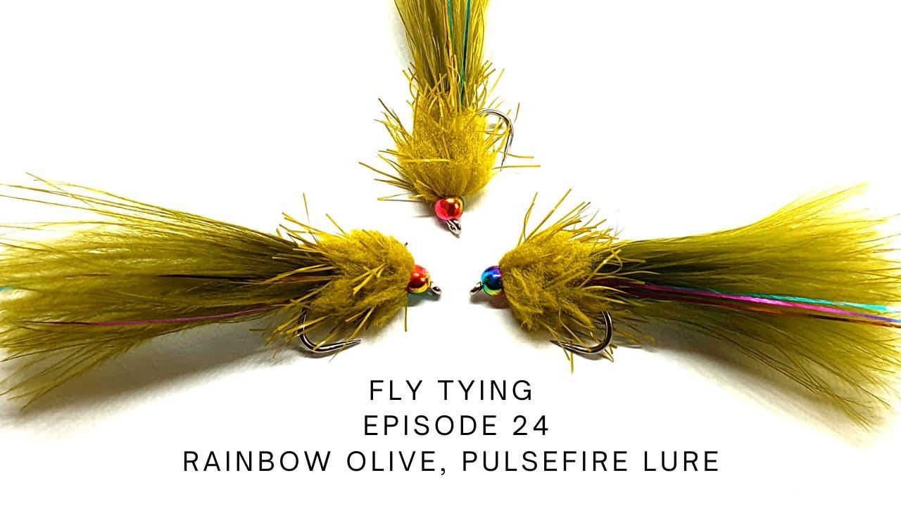 Rainbow-Olive-Pulsefire-Lure-Fly-Tying-Episode-24-UKFlyFisher