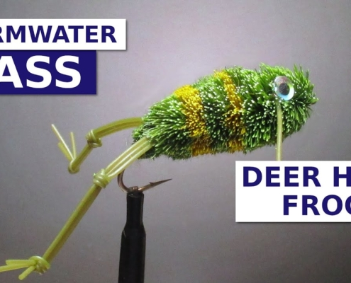 Fly-Tying-a-Deer-Hair-Frog-Bass-Fly-Pattern