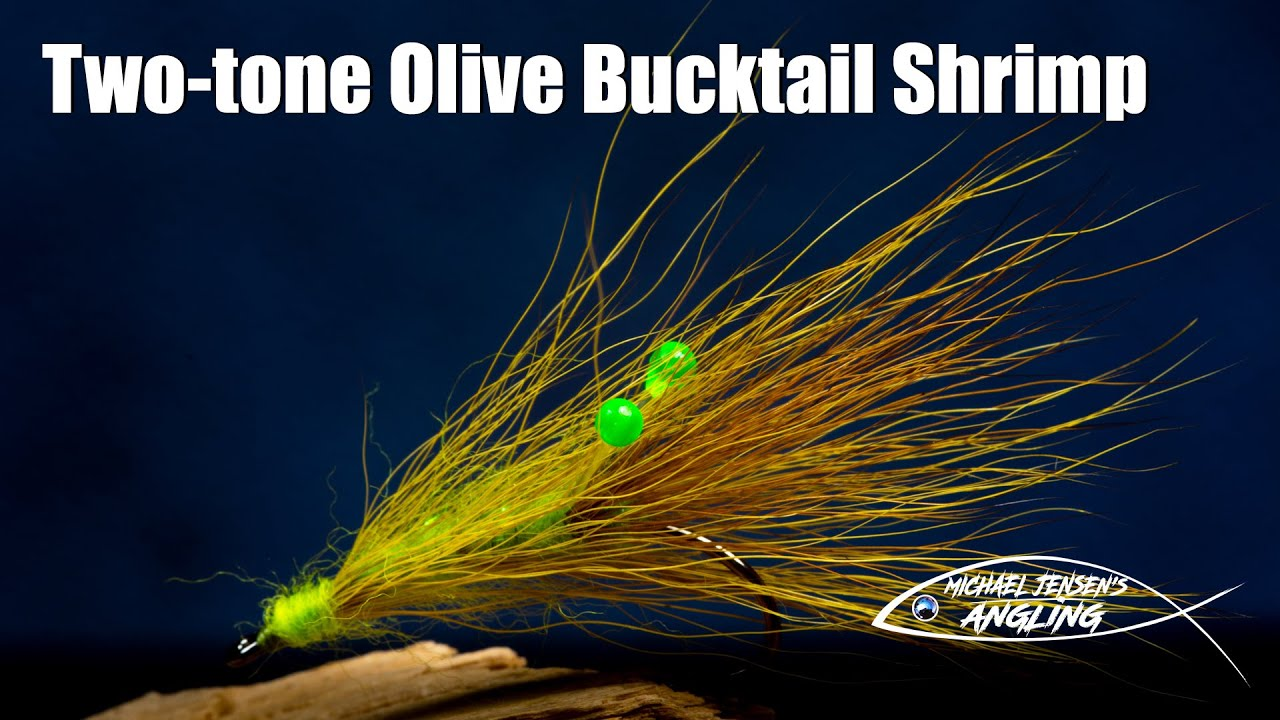 Two-tone-Olive-Bucktail-Shrimp-saltwater-fly-tying